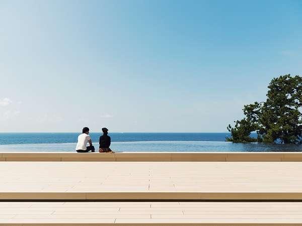 【観光・施設】姉妹館「 ホテルシーモア」内/インフィニティ足湯