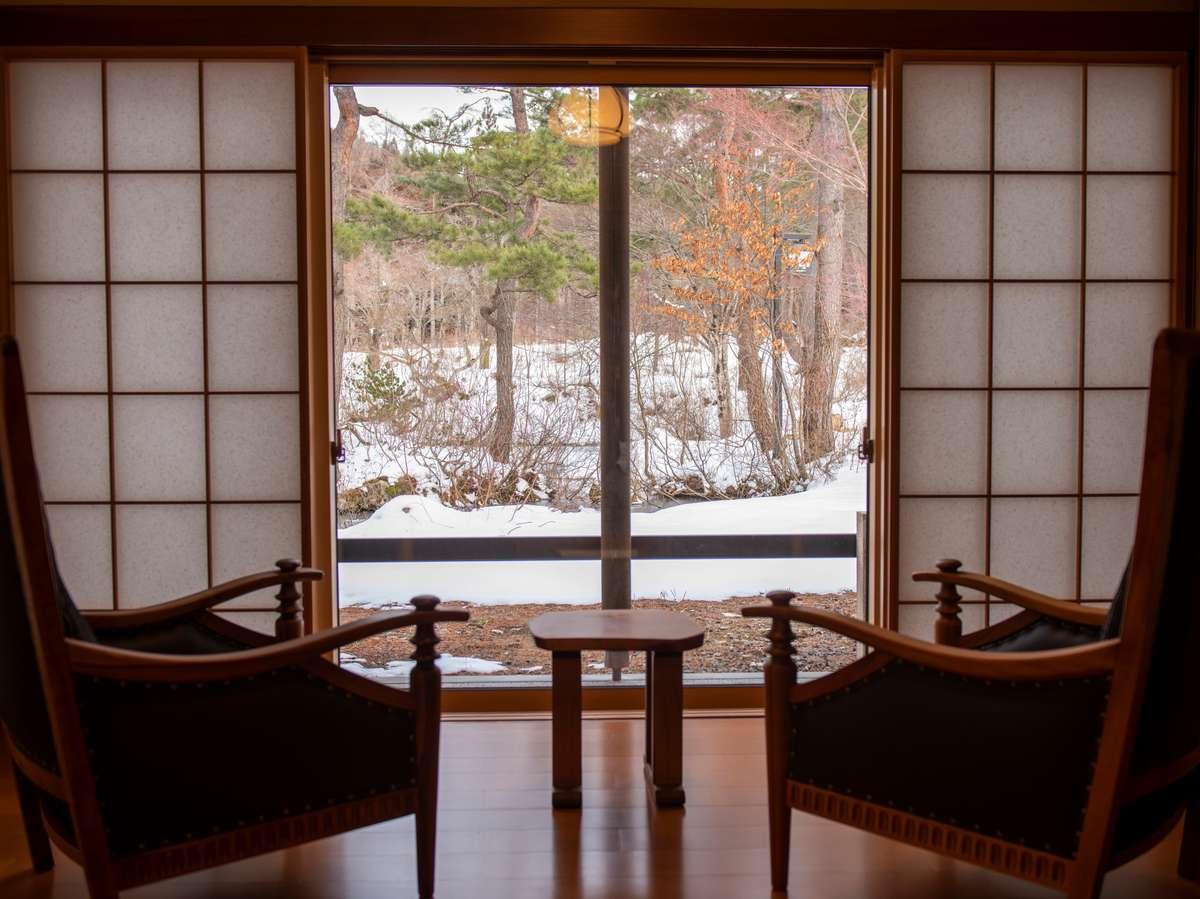 離れ【天の坐】「漣亭」…当館で一番奥まった場所にあり、日本庭園の景観を独占できます。