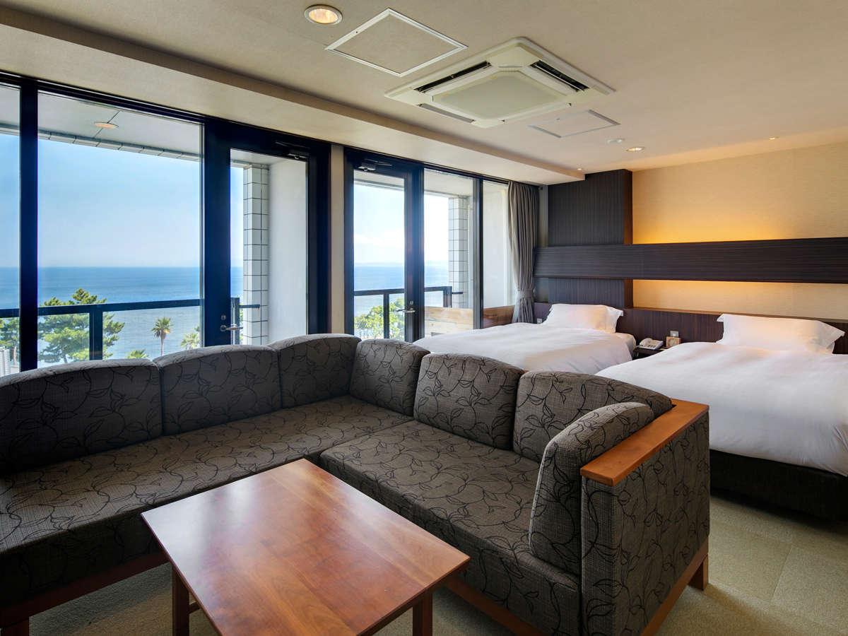 ≪オーシャンツインB≫紀淡海峡に面したオーシャンビューのお部屋です