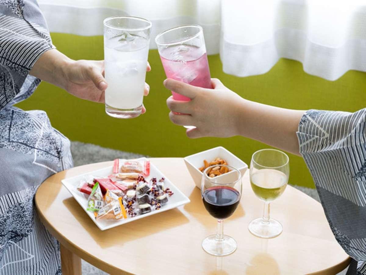 【オールインクルーシブ】お飲み物とお菓子類はお部屋にお持ち込みいただけます♪