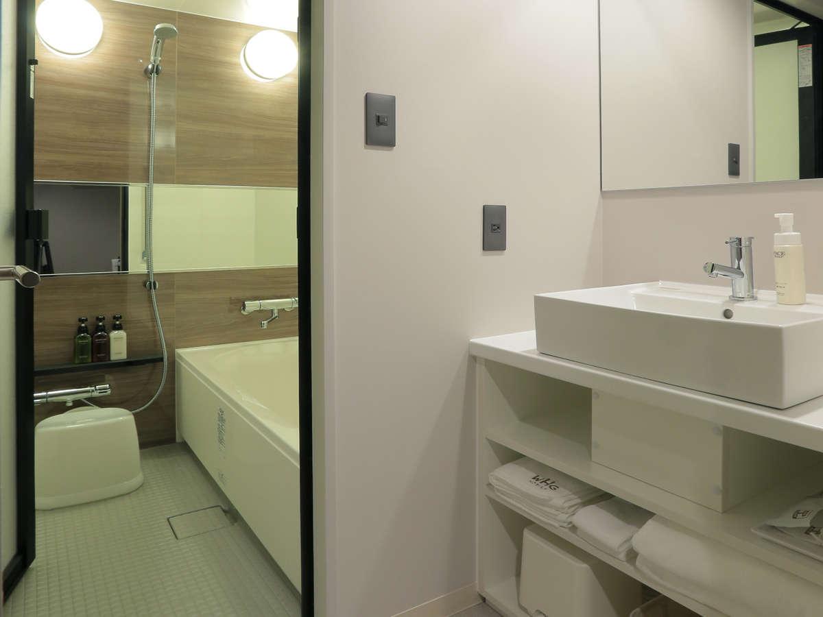 全ての客室が独立型バスルームです