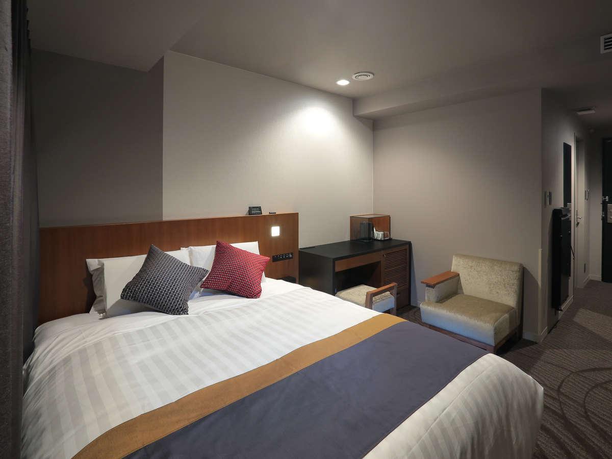 ダブルルーム(19.5㎡) ベッド幅160cm