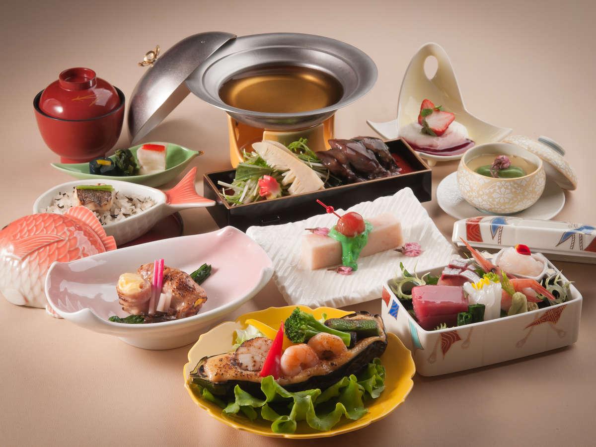 春ならではの食材を使った日本料理会席※写真はイメージです