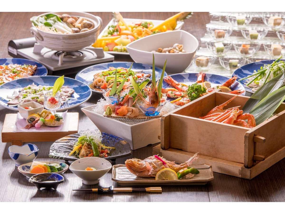 かまどレストランで食す新潟の味温泉蟹蒸しプラン