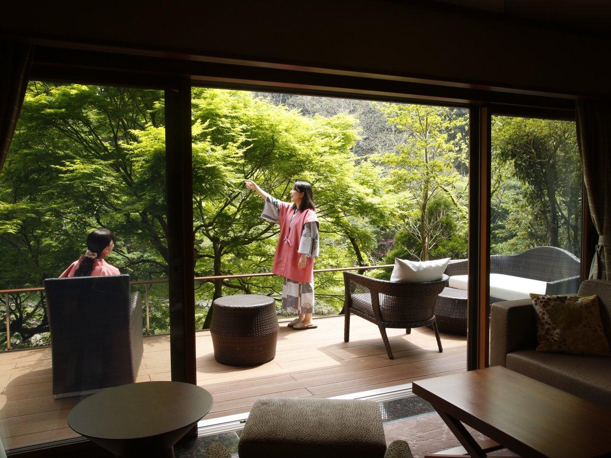 水と緑を近くに感じる大谷山荘。手足を延ばしてゆっくりと休日をご満喫くださいませ