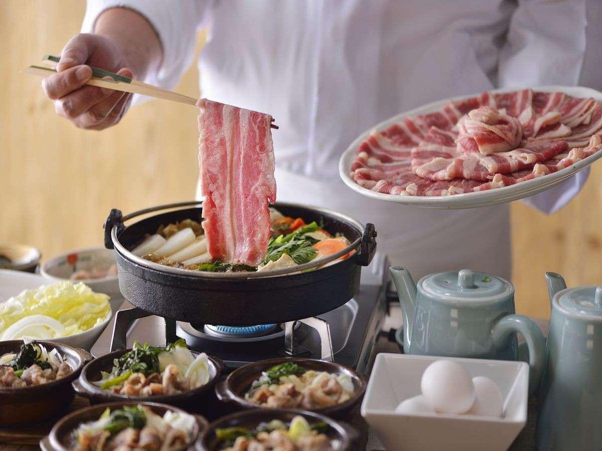 【朝食】すき焼き