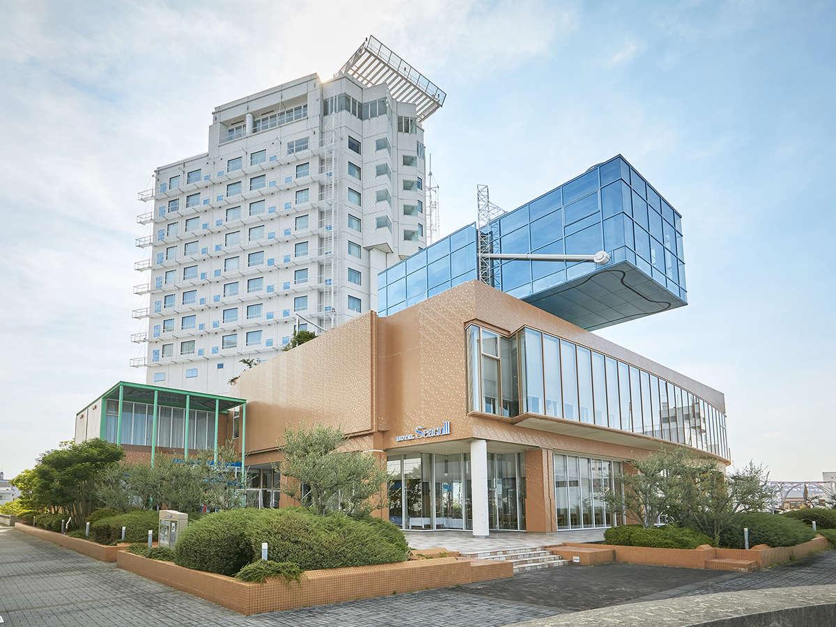 海側から見たホテルシーガルてんぽーざん大阪