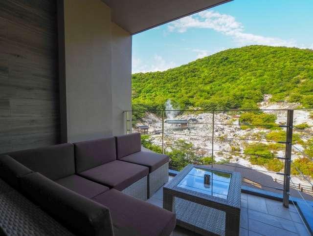 宿泊棟客室テラスからの眺望
