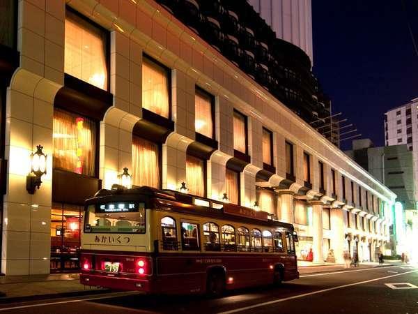ホテル外観(あかいくつバスはホテル目の前で乗降可)