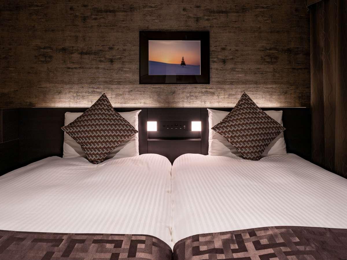 ◆ハリウッドツイン~2台のベッドがくっついているので小さなお子様連れでも安心♪