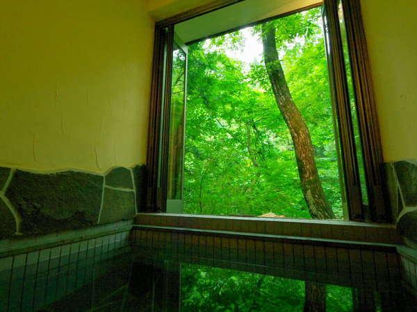 開閉式の露天風呂なので季節に関係なく快適入浴