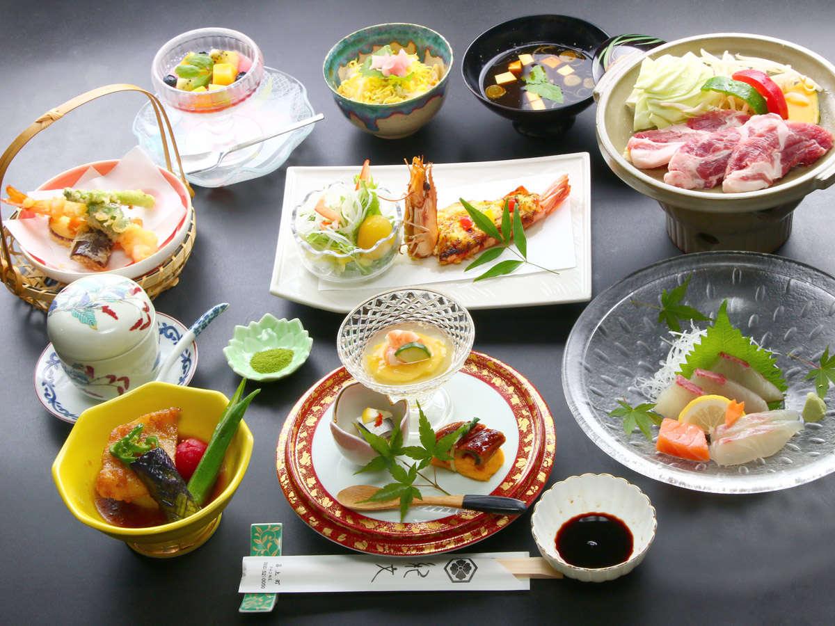 これはお客様への提案の一例です。紀文の会席料理は、常に旬と季節にこだわった逸品です。