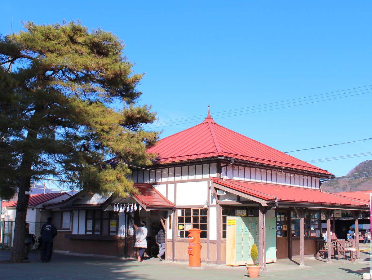 長瀞駅・徒歩3分★築100年のかわいらしい木造建築駅舎で、関東の駅百選にも選出。当館最寄駅です。
