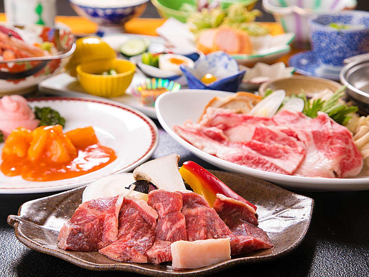 【2大牛会席】お肉好きにおススメ♪『すき焼き』+『陶板焼き』のダブルメインで大満足!