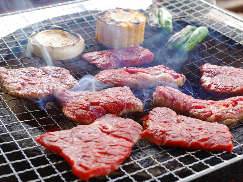 *宍粟牛をはじめ、地元の季節の食材を取り揃えております。<人気のBBQ♪>