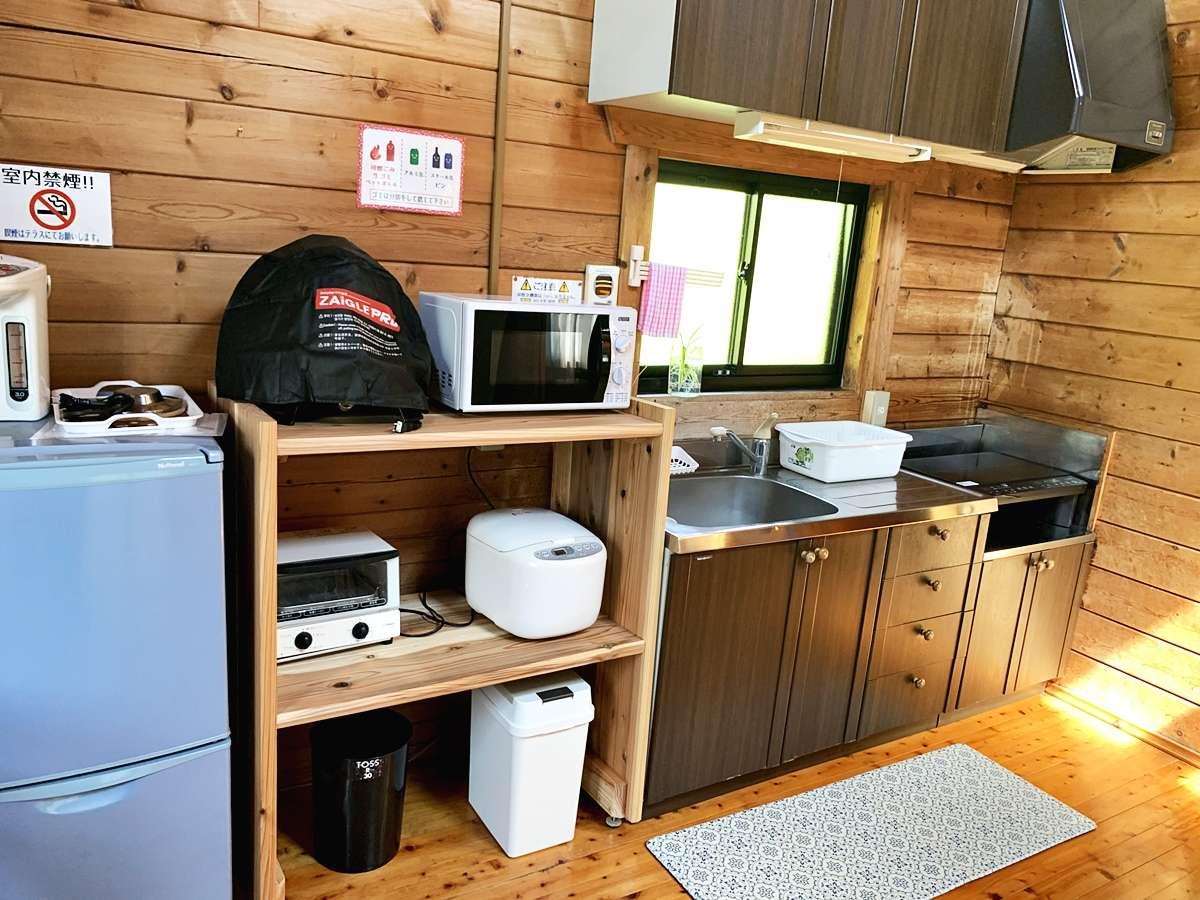 *部屋設備の一例です。キッチン付きのコテージで自炊も人気!
