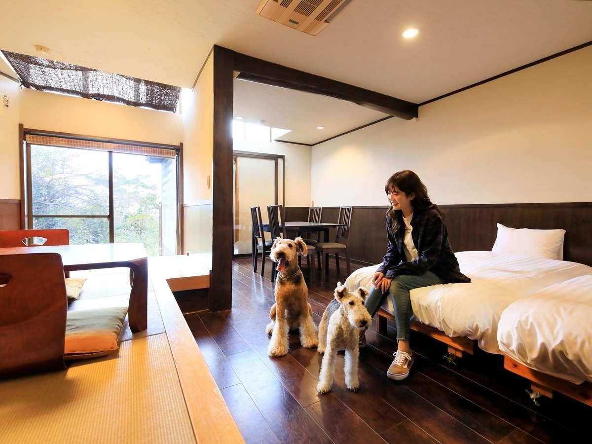 露天風呂付き客室(B-3)|愛犬にも嬉しい広々客室