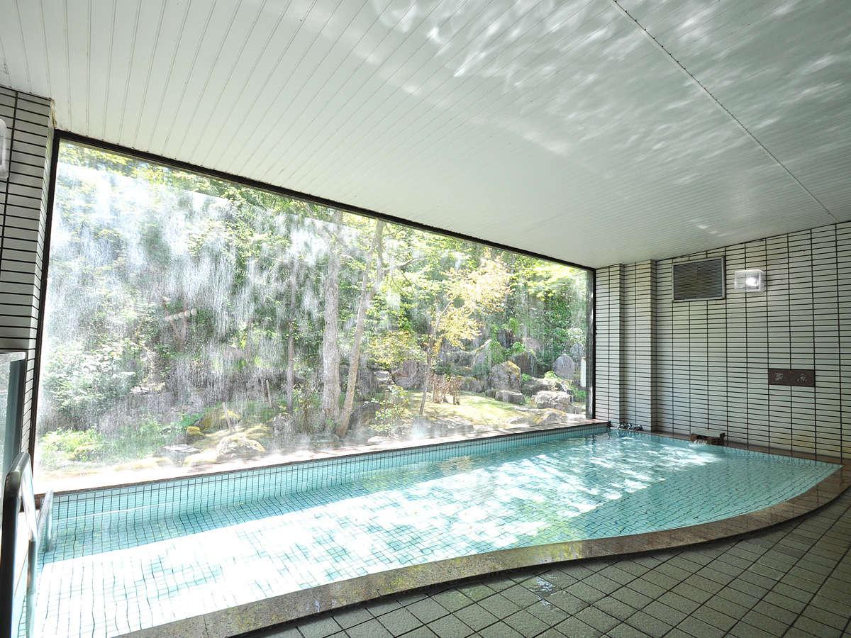 【温泉(グリーンパークホテル内)】四季折々の景色を楽しみながらおくつろぎ下さい