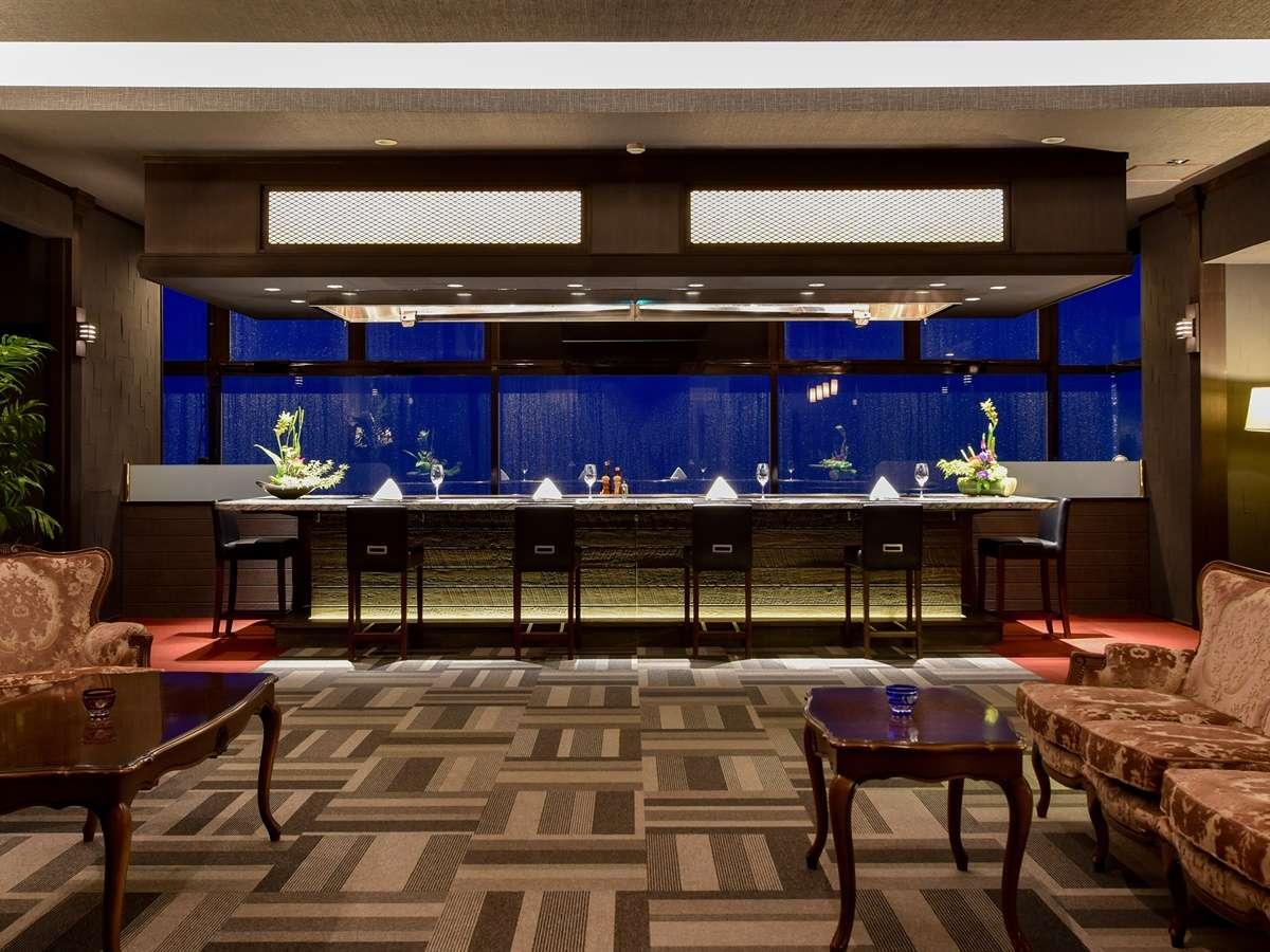 *【道(鉄板焼レストラン)】指宿の夜景を見ながらシェフの技光るコースをご堪能ください
