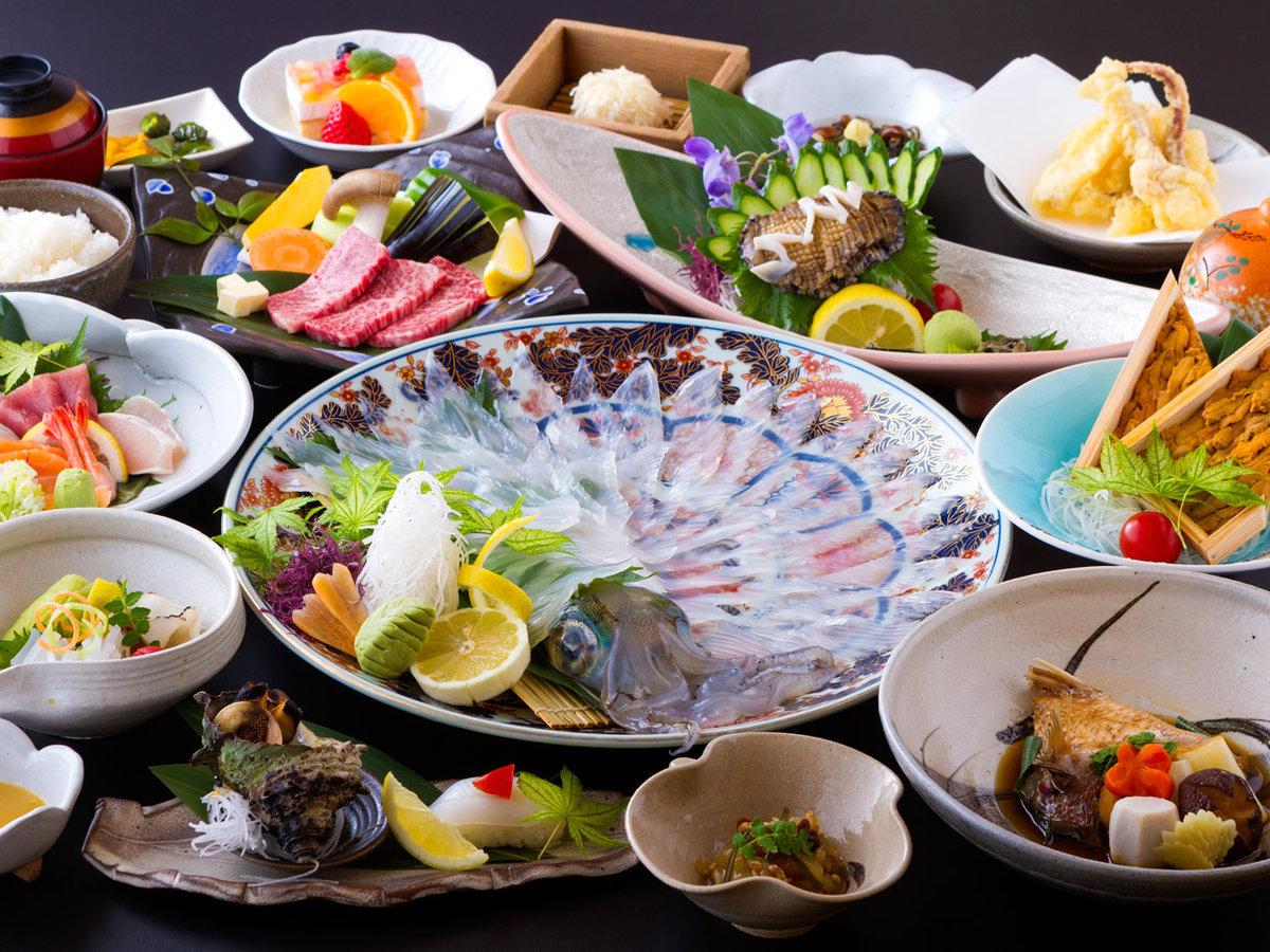 イカ&佐賀牛&アワビ&うに会席/イカは水イカです(一例)