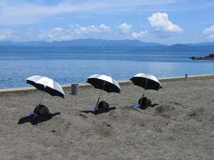 【指宿砂むし温泉】ホテル敷地内に「指宿砂むし温泉」があります。雨天時は屋内施設も併設で安心♪