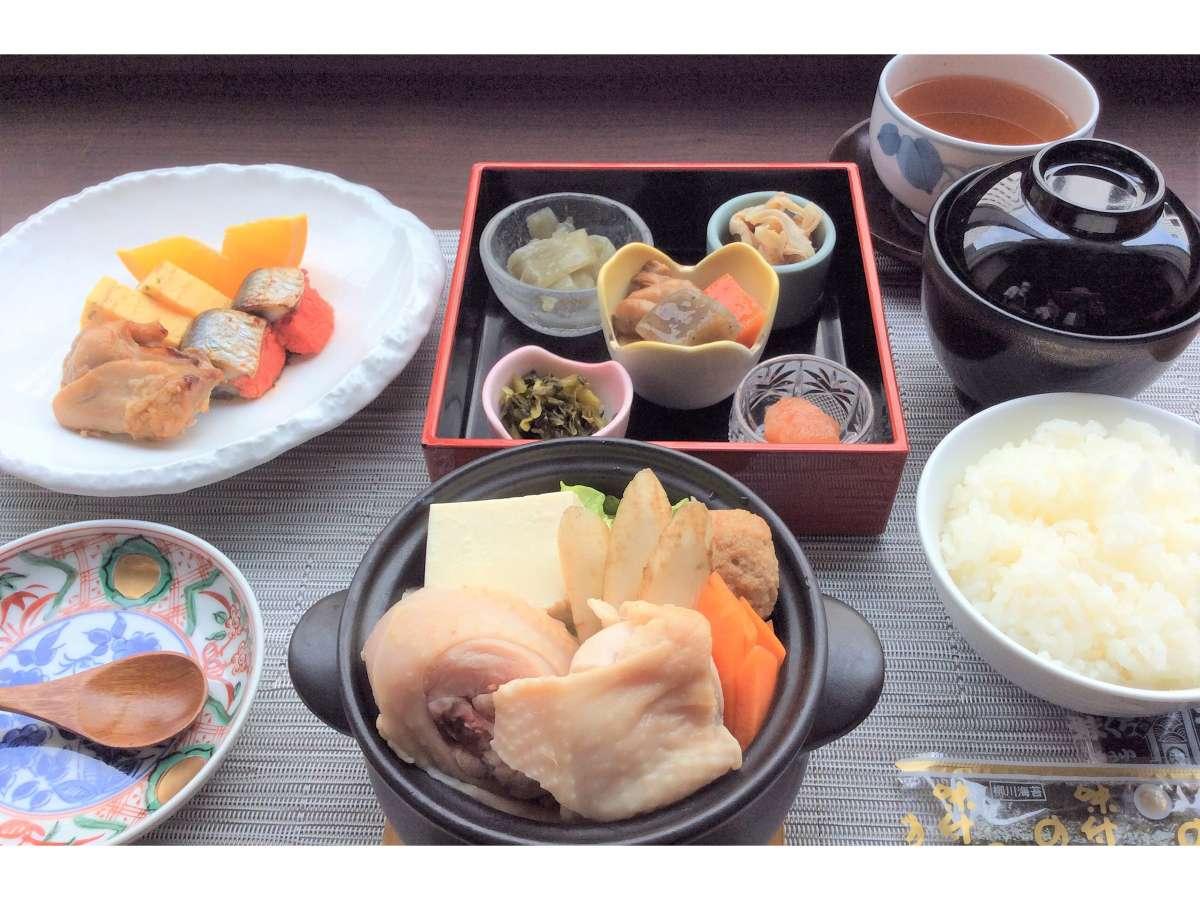 朝食 和食セットメニュー イメージ ※食材の入荷状況によって内容が変わる場合がございます。