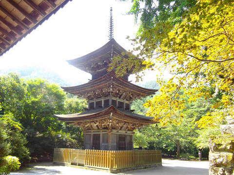 前山寺 美しい三重塔「未完成の完成の塔」と呼ばれている。