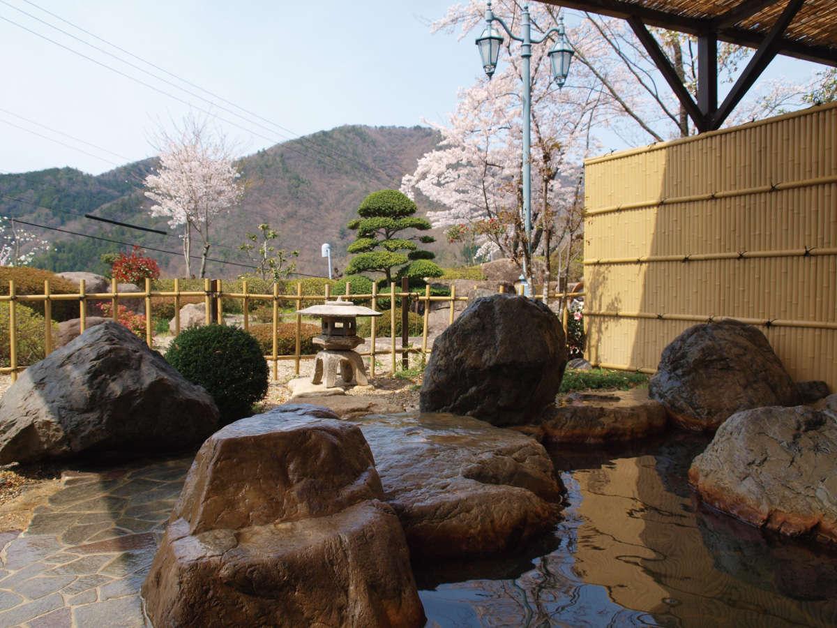 【春期】露天からの花見風呂