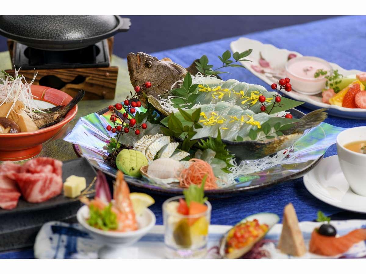 地元の旬の食材を使用した料理をご堪能ください♪