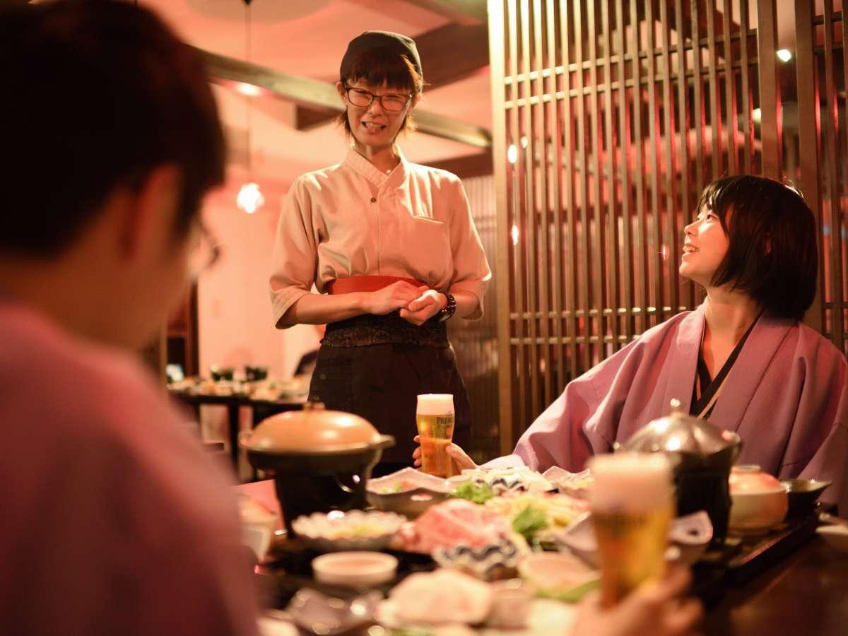 【会場食・灯】半個室のモダンな会場食でお寛ぎ下さい