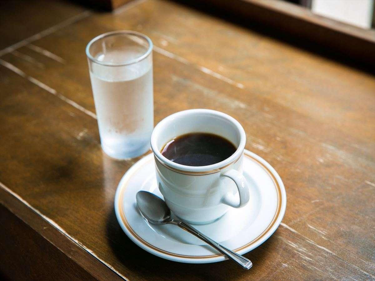 杉の水で淹れたコーヒー