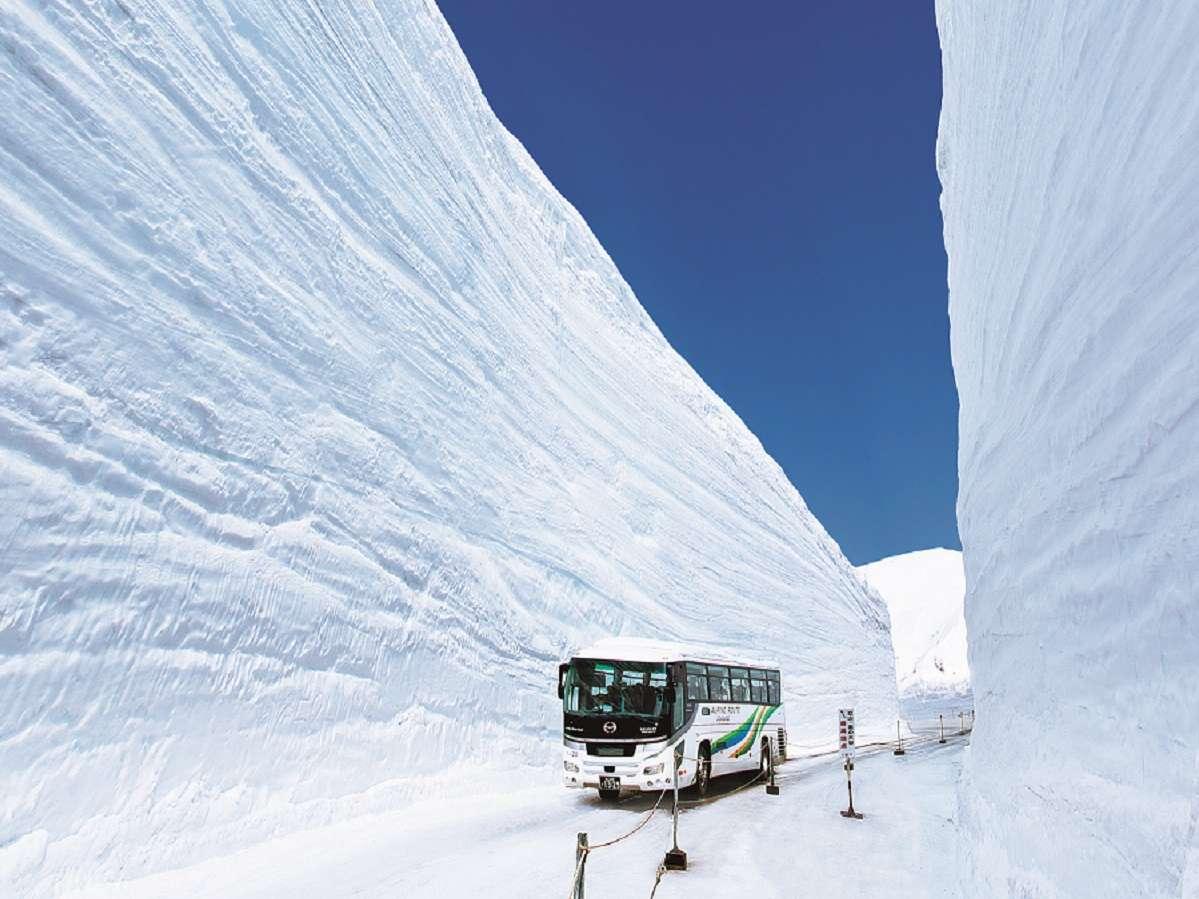 【立山黒部アルペンルート】アルプスの春の風物詩「雪の大谷」