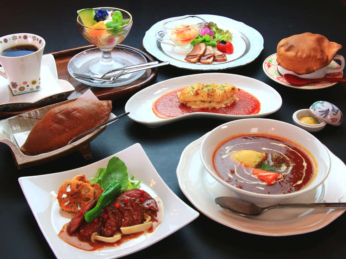 ~スタンダードコース~熊本県産の和牛ステーキなど地元食材をふんだんに使用。