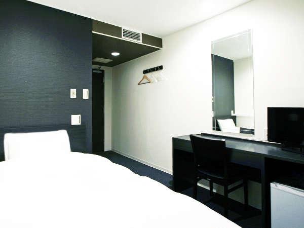 シックなお部屋・全室Wi-Fi完備、シングルルーム
