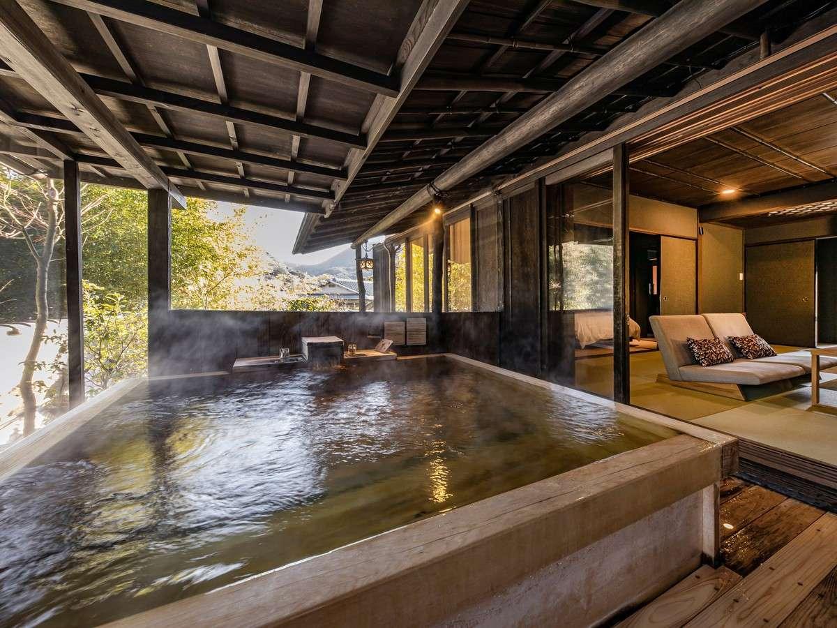 【1階2間 檜風呂】温泉露天付スイートツインルーム