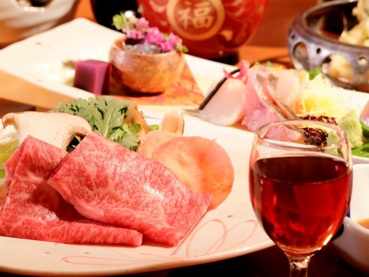【露天風呂付き客室専用夕食】料理イメージ