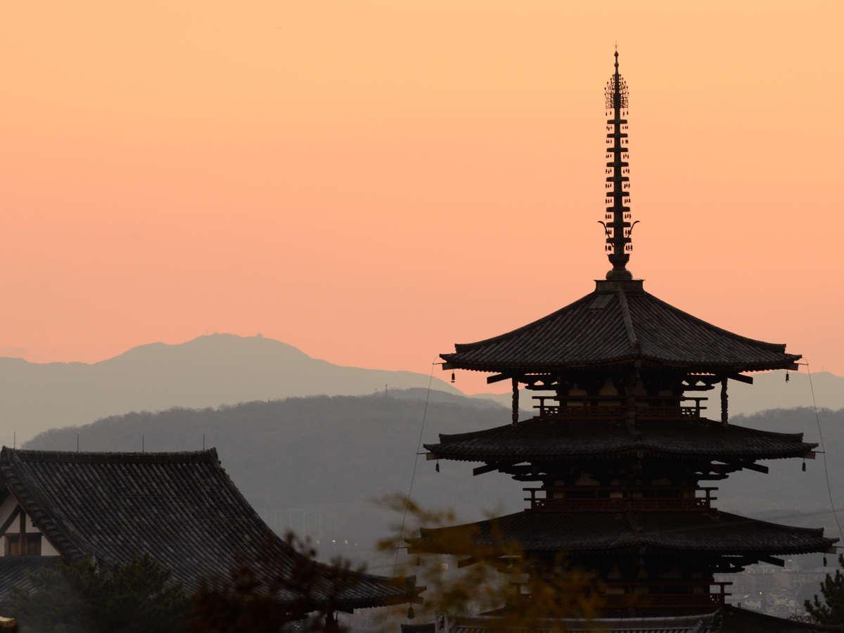 【世界遺産法隆寺】日本最古の木造建造物。世界文化遺産。斑鳩町にある聖徳宗の総本山。