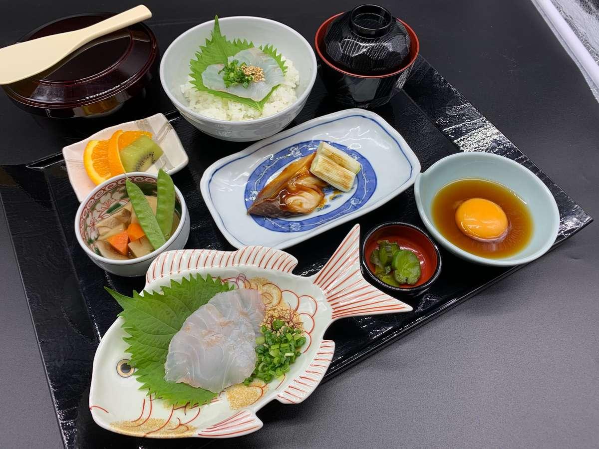 南予の鯛めし 宇和海産鯛の刺身と伊達玉子・地魚の煮付けの御膳
