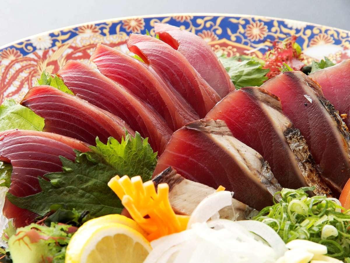 皿鉢プラン/鰹の刺身とタタキ