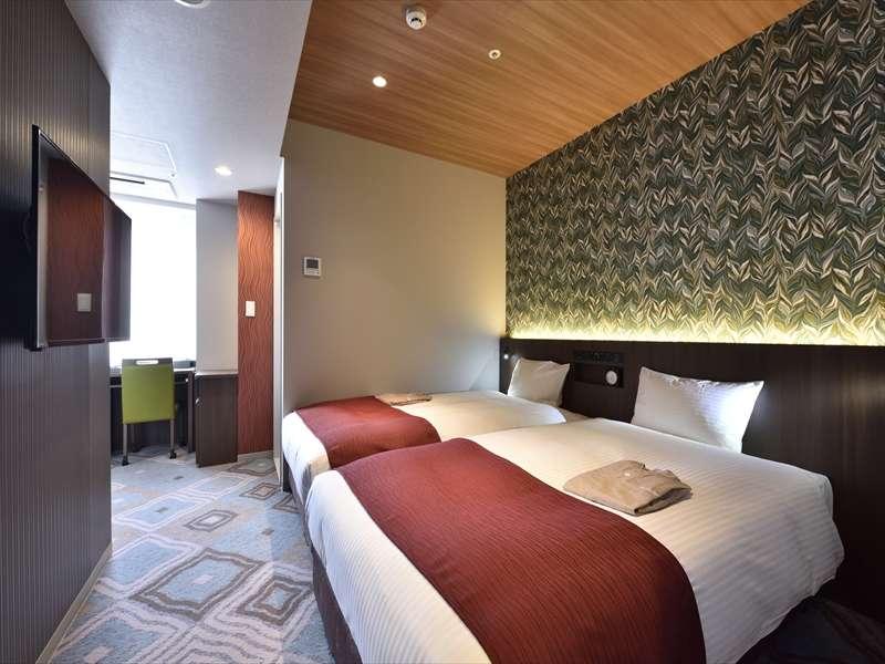 ハリウッドツインベッドルーム(110cm幅ベッド2台/17㎡)