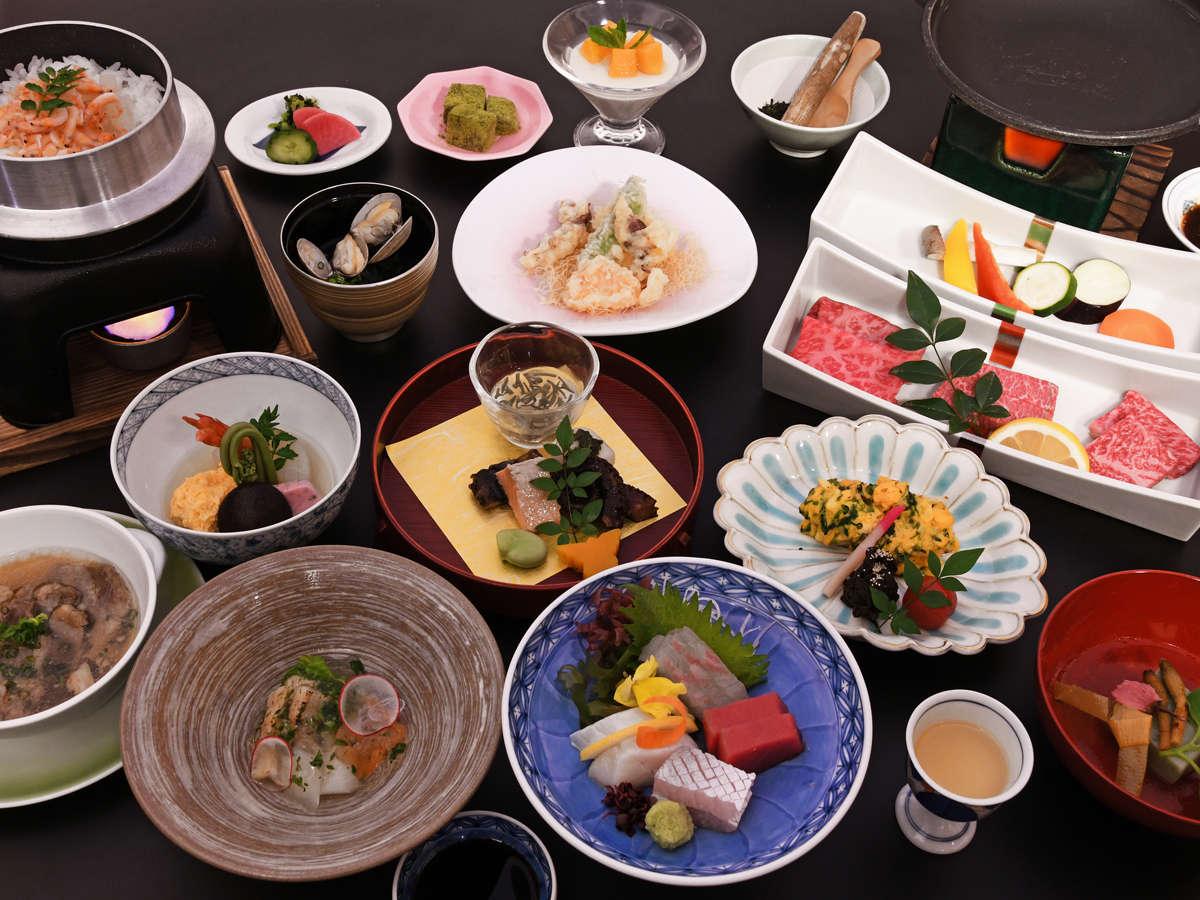 【佐賀牛満喫会席/卯月】佐賀牛3種<ヒレ・ロース・モモ>食べ比べ!