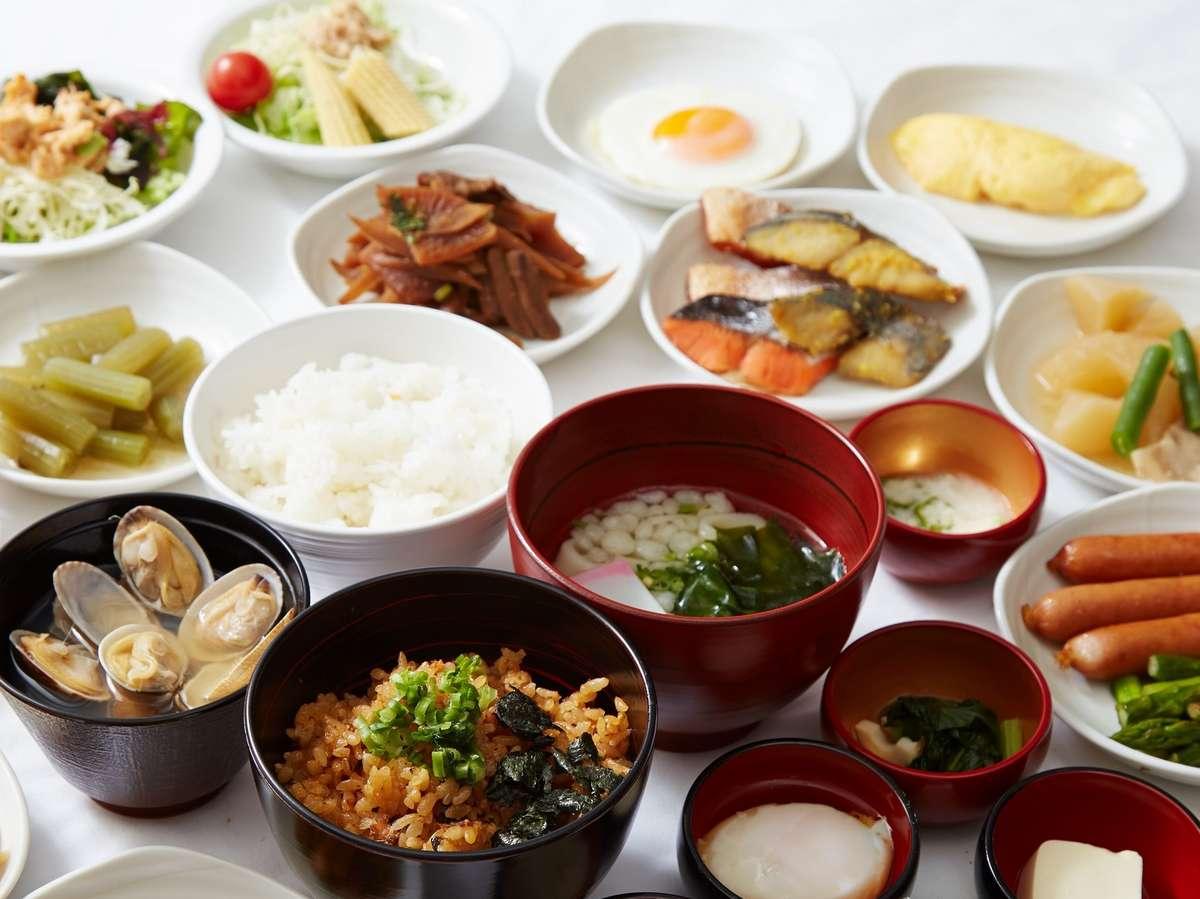 ■朝食(イメージ)※食材は個別に分けラップをかけた状態で提供致しております