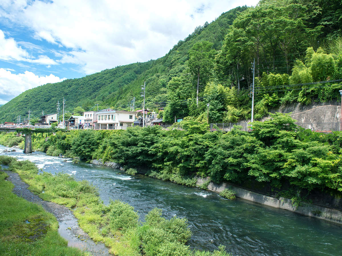 夏は青空と艶やかな緑のコントラストが美しい散歩道が!天然のフォトスポットがたくさん♪