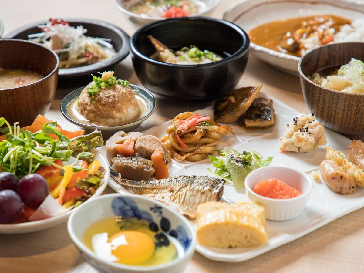 【朝食ブッフェ】九州の食材をふんだんに使ったお料理をご準備しております♪