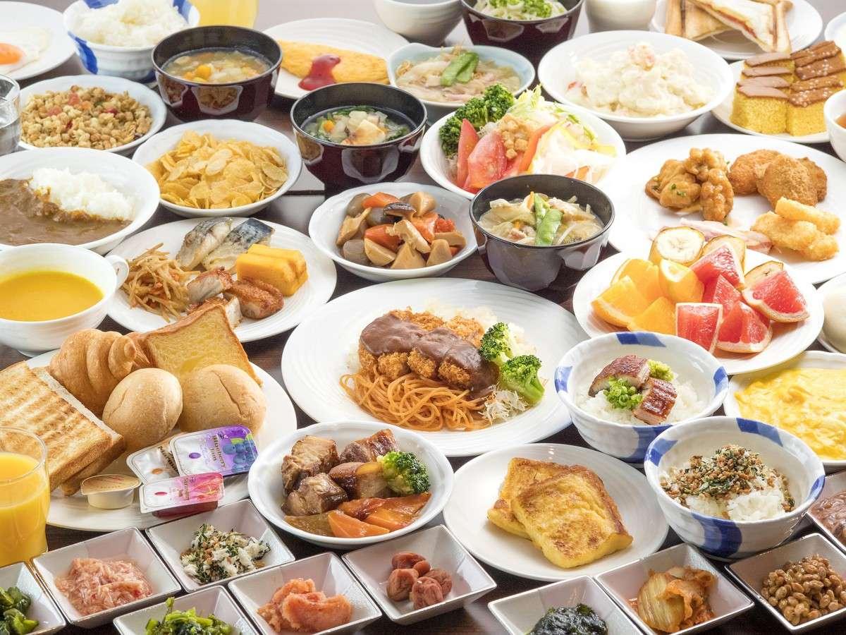 長崎名物をはじめ九州各地の名物料理から定番メニューまでフォルツァらしさ溢れる元気朝食をご用意