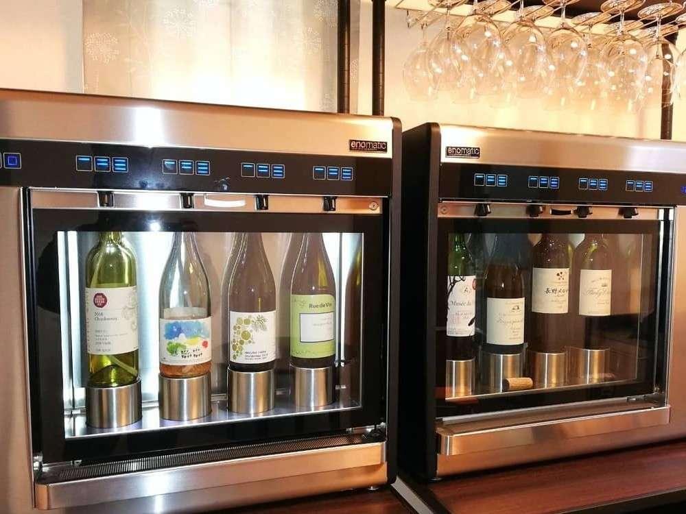 厳選した長野県産ワインをワインサーバーでお楽しみいただけます。