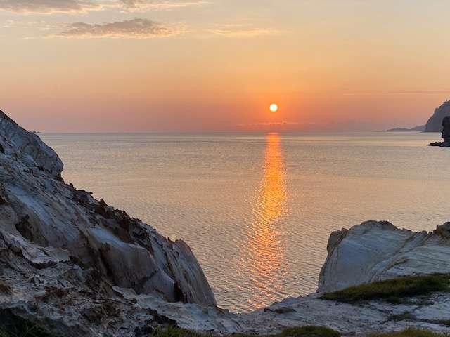 おとめこ海岸の夕日