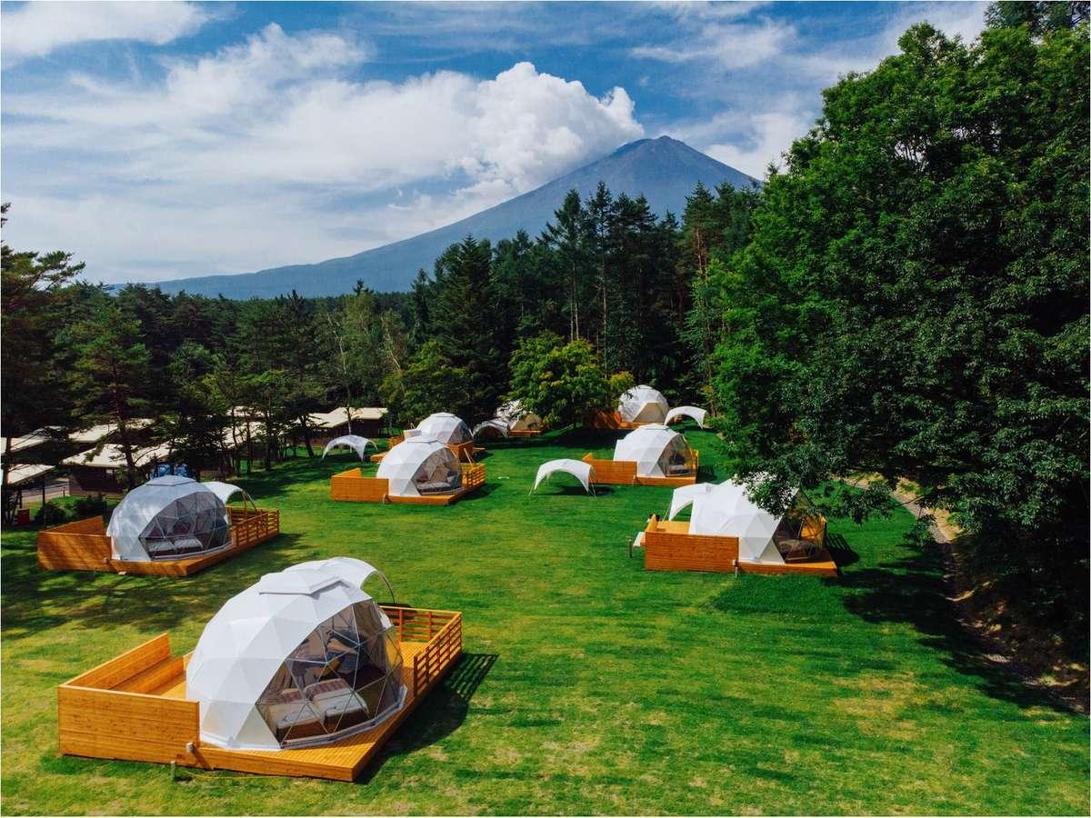 アメージングドームエリアと富士山