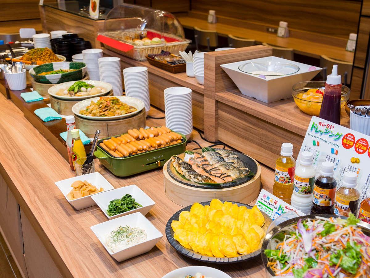 種類豊富な朝食バイキングam6:30~