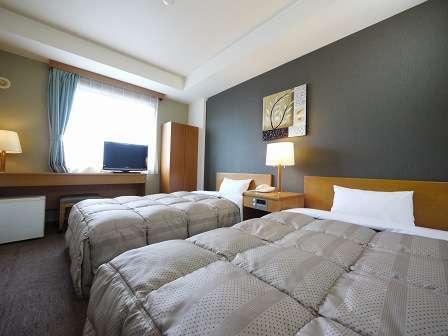 【ツイン】ベッドサイズ110×196(cm) 全室 加湿機能付き空気清浄機 設置